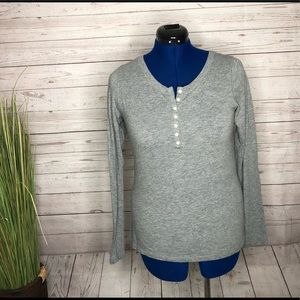 Mossimo Supply Co. Grey longsleeve top w buttons L